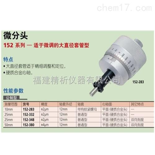 测微头152系列—精细进给大直径微分筒型
