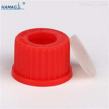 HM-00G32GL32 螺口顶空瓶红色开孔盖垫PTFE硅胶垫