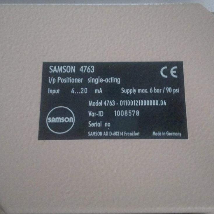 萨姆森SAMSON阀门定位器4763-01