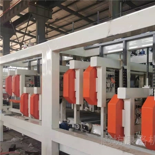 大型封闭式多锯切割匀质板流水线生产