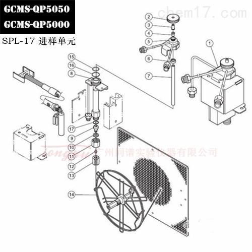 岛津GCMS-QP5050/5000 SPL-17进样单元备件