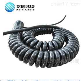 PUR屏蔽型医疗设备连接螺旋弹簧电缆