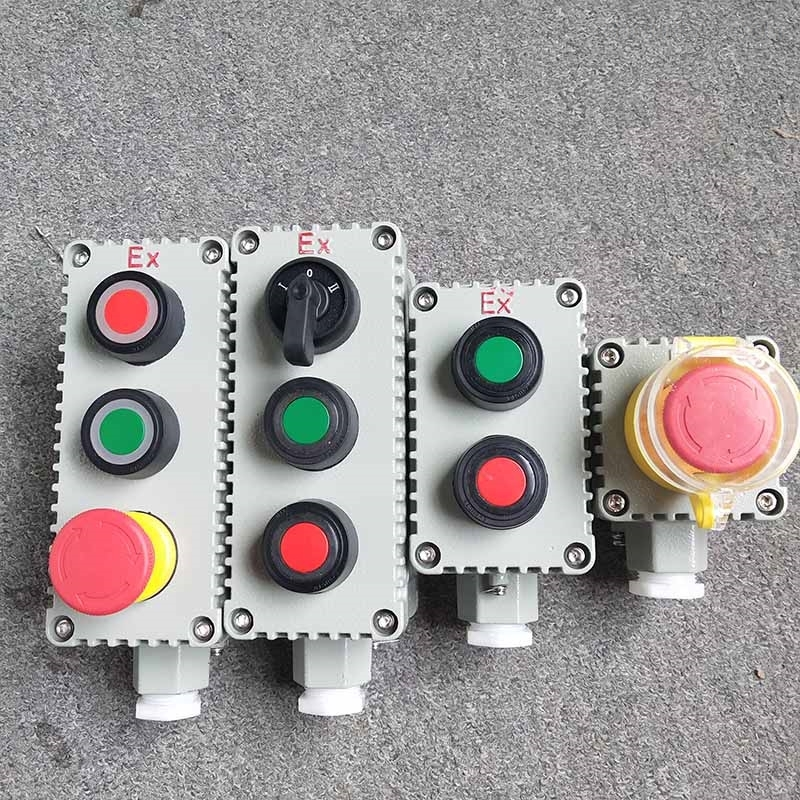 BZA53一位两位三位工业防爆控制按钮盒EX