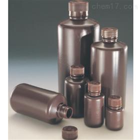 Nalgene 实验室级琥珀色 HDPE 窄口瓶