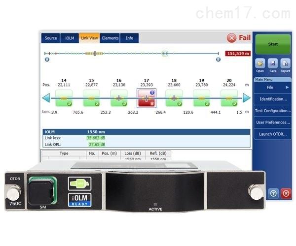 FTBx-750C - 城域网/长距离OTDR