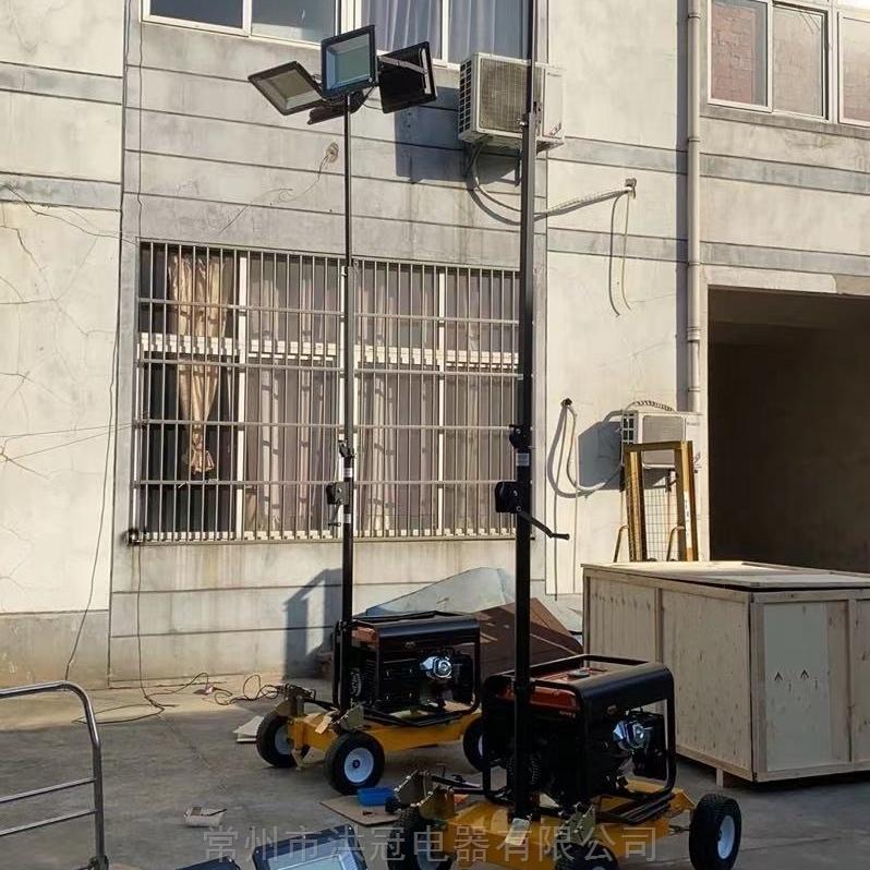 手摇升降移动式照明灯车4X400WLED移动灯塔