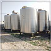 二手白钢储水罐10吨不锈钢储罐立式二手储罐