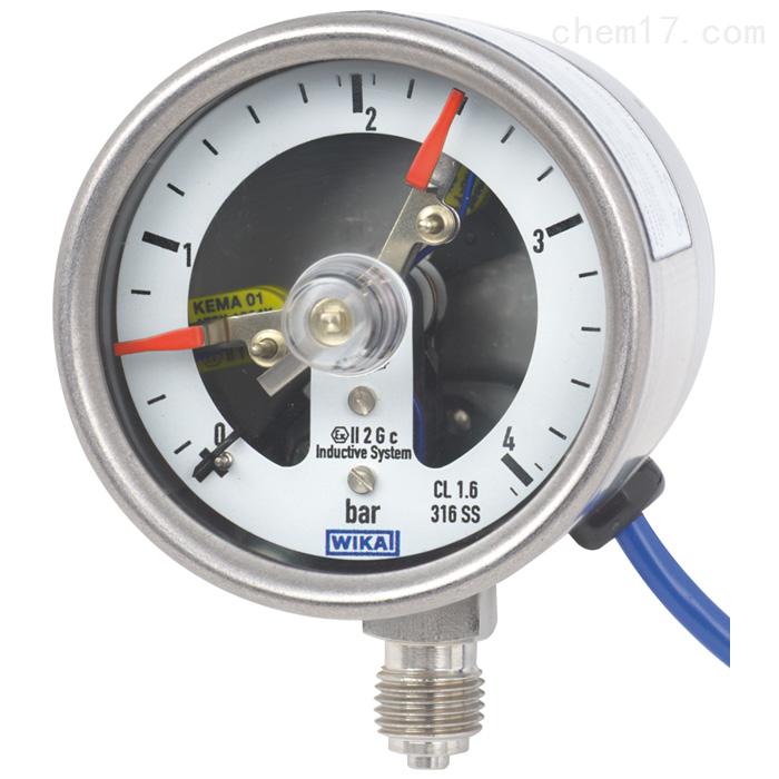 WIKA威卡带开关电接点的波登管压力表价格