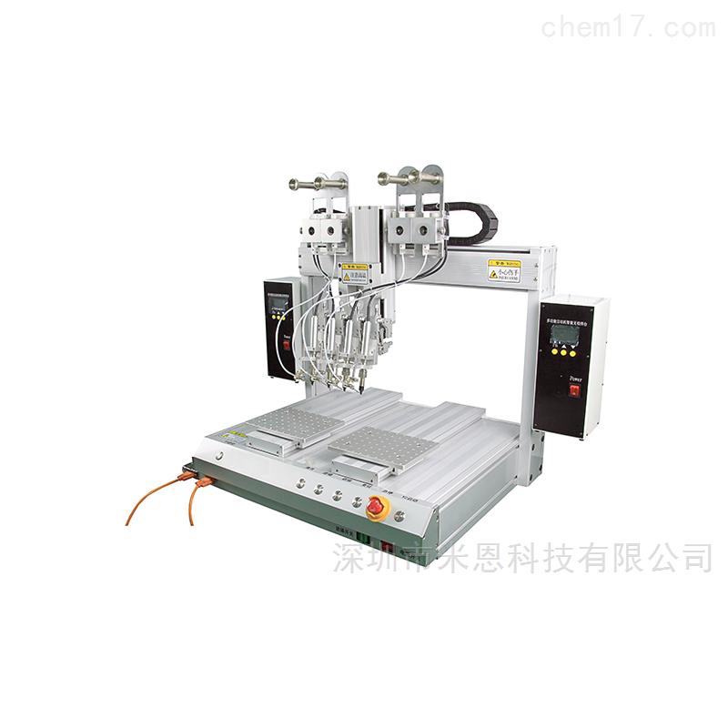 米恩HXJ6441S-4四轴双平台四焊头自动焊锡机