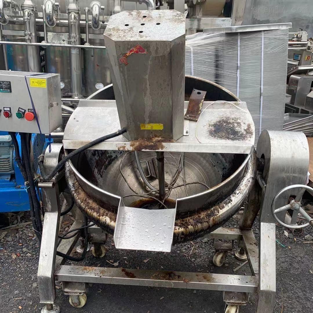 二手300L 电加热带搅拌夹层锅