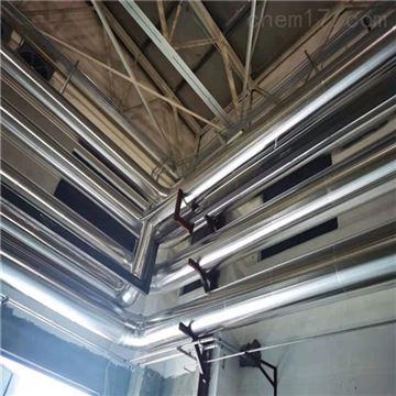 27-1220锅炉房管道保温玻璃棉管铁皮施工承包价格