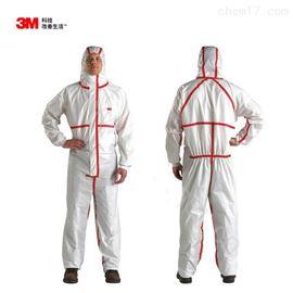 3M连体带帽防护服防尘服化学实验服喷漆服
