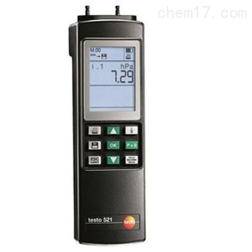 德图testo 521-3差压测量仪(量程2.5 hPa)