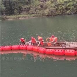 FT550*900漂浮类垃圾水生植物拦截用塑料拦污漂排浮筒