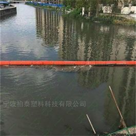 FT300*1000拦污浮筒穿绳挂网拦截漂浮垃圾塑料排浮筒