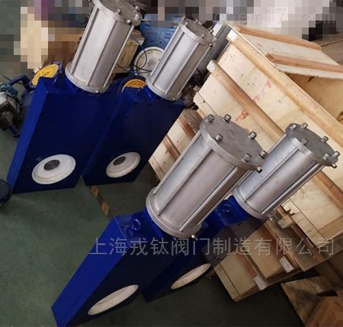 Z643TC气动陶瓷单阀板闸阀