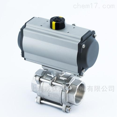 Q611F气动三片式球阀