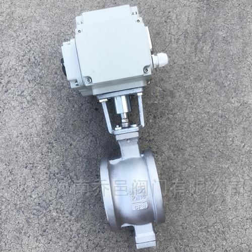 QV977H电动V形对夹球阀