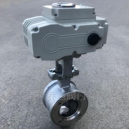 QV977Y电动对夹式V型球阀