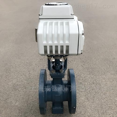 电动V型法兰球阀