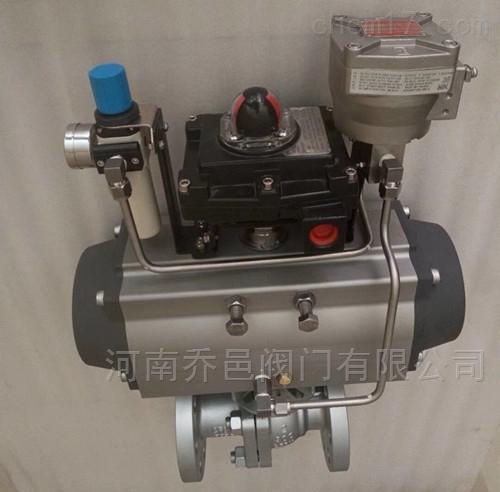 Q641F-300LB气动美标法兰球阀 气动美标不锈钢球阀