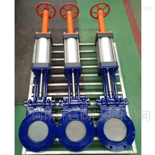 气动带手动插板阀 气动带手动闸板阀