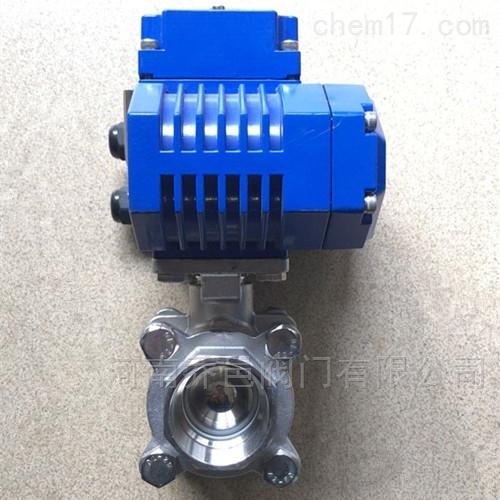 电动球阀 电动三片式丝口球阀 电动三片式不锈钢球阀