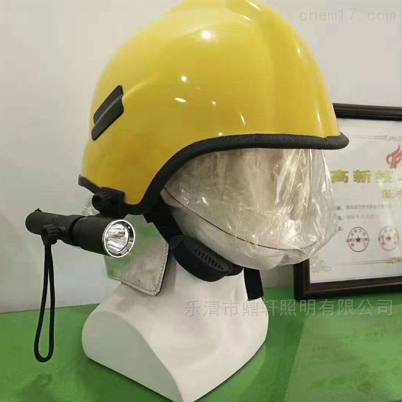 鼎轩照明消防款可头盔佩戴充电式强光手电筒