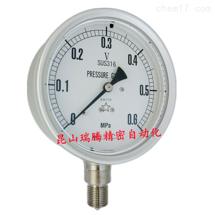 大东计器DAITO充油压力表SUS316