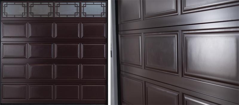 中式铝合金车库门面板造型