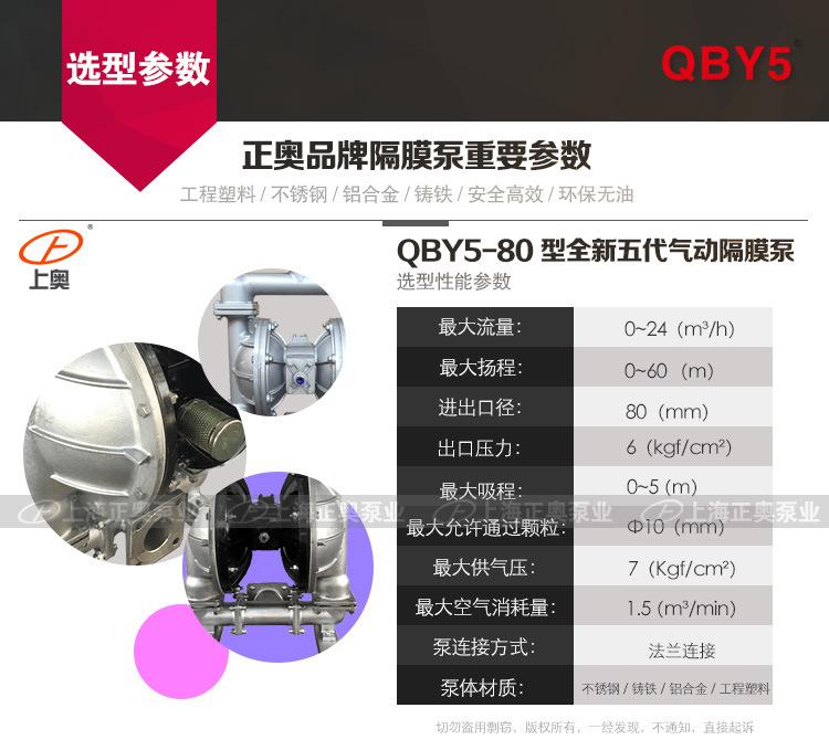 80隔膜泵性能参数